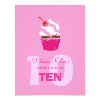 "311-Kickin Cupcake Strawberry Invitation 4.25"" X 5.5"" Invitation Card"