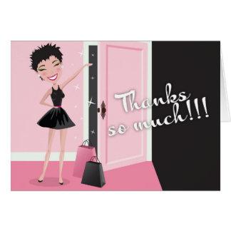 311 Kiki Cutie Open Door Shopping Thank You Card