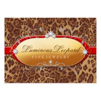 311 la franja roja luminosa del leopardo tarjetas de visita grandes