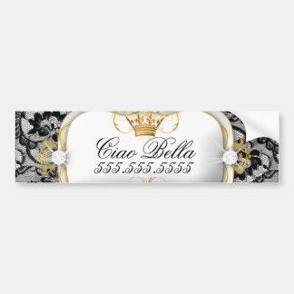 311 Lace De Luxe Ciao Bella Metallic Bumper Sticker