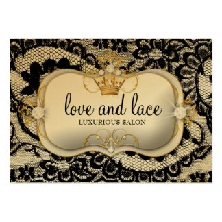 311 Lace de Luxe Ciao Bella Metallic Gold Appoint Large Business Card
