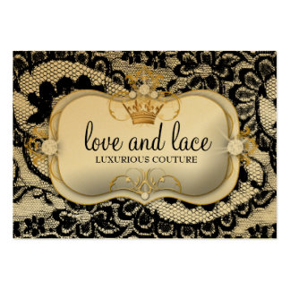 311 Lace de Luxe Ciao Bella Metallic Gold Business Cards