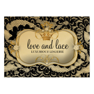 311 Lace de Luxe Ciao Bella Metallic Gold Business Card Template