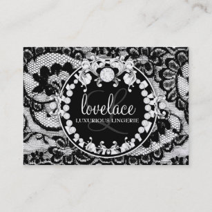 311-Lace de Luxe - Circque D' Zebra Metallic Gold Business Card
