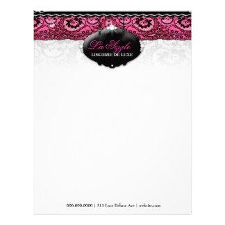 311-Lace De Luxe - diamantes rosados Plantilla De Membrete