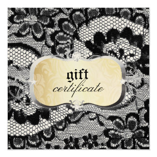 311 Lace De Luxe Gold Gift Certificate Card
