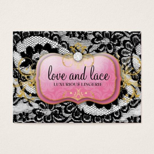311 Lace de Luxe Lavish Pink Plate Business Card