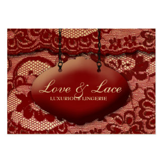 311 Lace de Luxe Rouge Large Business Card