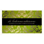 311-Ladonna Damask Golden Lime Business Card Templates