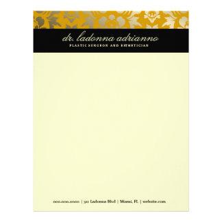 311-Ladonna Damask Golden Yellow Letterhead