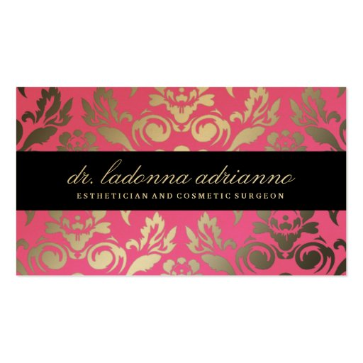 311 Ladonna Damask Pink Double-Sided Standard Business Cards (Pack Of 100)