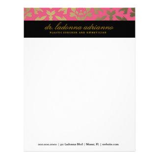 311 Ladonna Damask Pink Letterhead