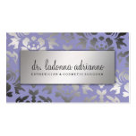 311 Ladonna Damask Silver Lavender Double-Sided Standard Business Cards (Pack Of 100)