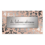 311 Ladonna Damask Silver  Peachy Pink Double-Sided Standard Business Cards (Pack Of 100)