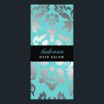 "311 Ladonna Damask Topaz Rack Card<br><div class=""desc"">Design by Jill McAmis,  copyright 2012.</div>"