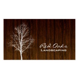 311 Landscaping Business Card Wood Tree White Oak
