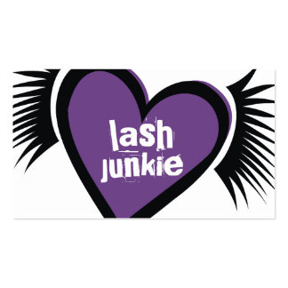 311 Lash Junkie Purple Business Card