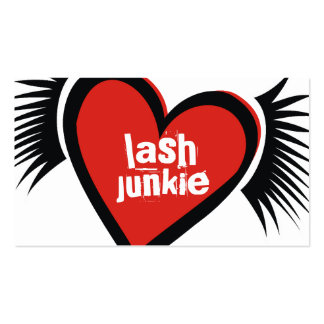 311-Lash Junkie Red Business Card