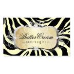 311 Lavish Buttercream Platter Zebra Double-Sided Standard Business Cards (Pack Of 100)
