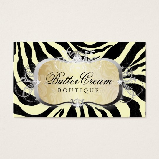 311 Lavish Buttercream Platter Zebra Business Card