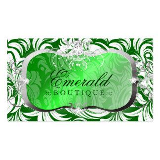 311 Lavish Emerald Platter | Silver Business Card Template