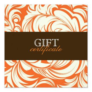 311 Lavish Orange Brown Gift Certificate Card