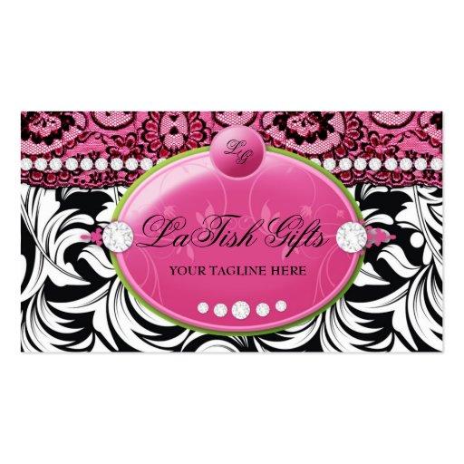 311 Lavish Pink Delish with Fleur de Lis Business Cards