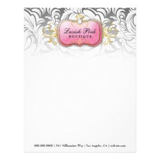 311-Lavish Pink Plate Diamond - Letterhead