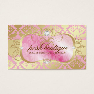311 Lavish Pink Plater & Golden Damask Shimmer Business Card