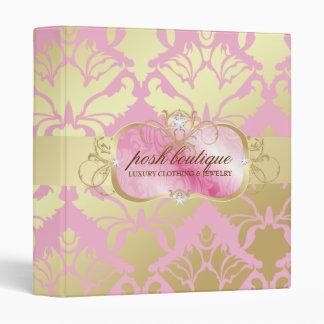 311 Lavish Pink Platter & Damask Shimmer Golden Binder