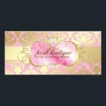 """311 Lavish Pink Platter &amp; Damask Shimmer Golden Rack Card<br><div class=""""desc"""">Design by Jill McAmis,  copyright 2011.</div>"""