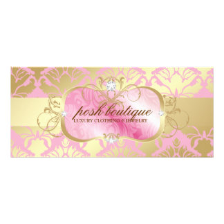 311 Lavish Pink Platter & Damask Shimmer Golden Rack Card