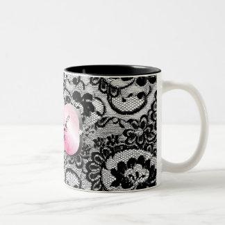311 Lavish Pink Platter & Lace Coffee Mugs