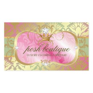 311 Lavish Pink Platter Shimmer Tiara Double-Sided Standard Business Cards (Pack Of 100)