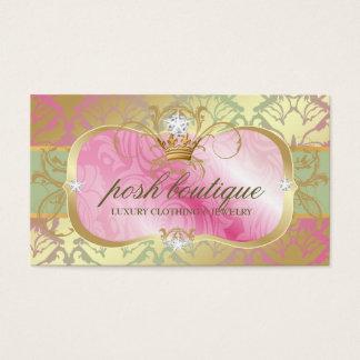 311 Lavish Pink Platter Shimmer Tiara Business Card