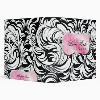 311-Lavish Pink Platter   Silver 3 Ring Binder