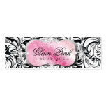311 Lavish Pink Platter Silver Hang Tag BC Business Card Template