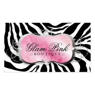 311 Lavish Pink Platter Zebra Loyalty Cards Business Card Templates