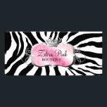 "311 Lavish Pink Platter Zebra Rack Card<br><div class=""desc"">Design by Jill McAmis,  copyright 2010.</div>"