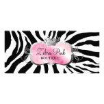 311 Lavish Pink Platter Zebra Rack Card Design