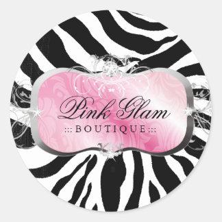311 Lavish Pink Platter Zebra Stickers