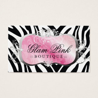 311 Lavish Pink Platter Zebra { Update } Business Card