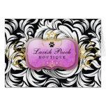 311-Lavish Pooch | Purple Greeting Card
