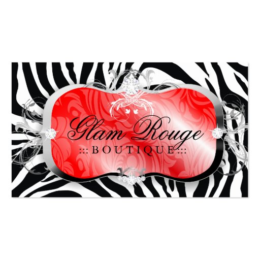 311 Lavish Rouge Platter   Silver Business Card
