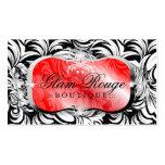 311-Lavish Rouge Platter   Silver Business Card
