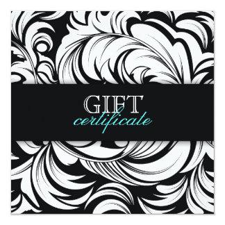 311 Lavish Topaz Black Gift Certificate Card