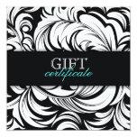 311 Lavish Topaz Black Gift Certificate 5.25x5.25 Square Paper Invitation Card
