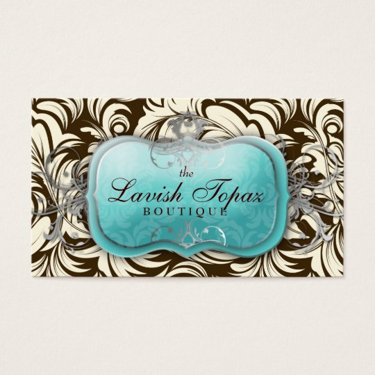 311 Lavish Topaz Brown & Cream Business Card