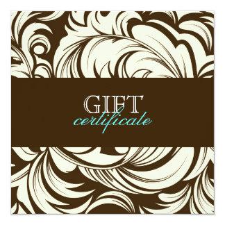 311 Lavish Topaz Brown Gift Certificate 5.25x5.25 Square Paper Invitation Card