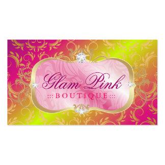 311-Lavish tronco color de rosa divino de oro rosa Tarjeta De Visita